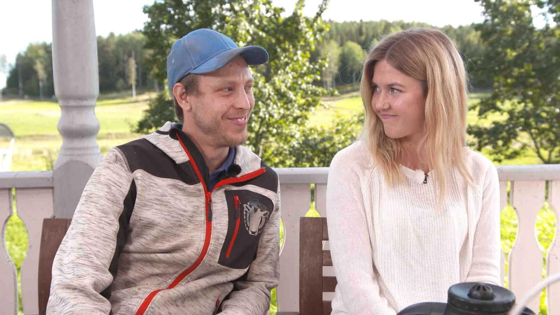 """Pelle och Karin fann varandra i """"Bonde söker fru""""."""