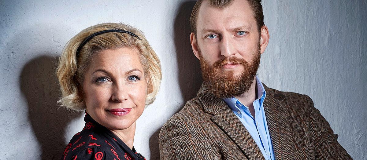 """Anna-Karin Wyndhamn och Ivar Arpi, aktuella med """"Genusdoktrinen""""."""