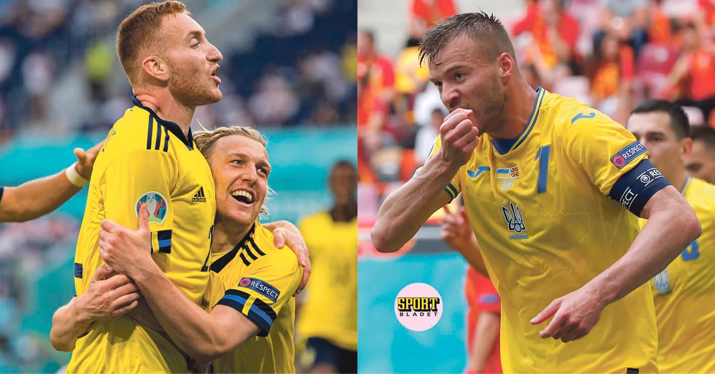 Sverige och Ukraina möts på tisdag 21.00 i Glasgow.