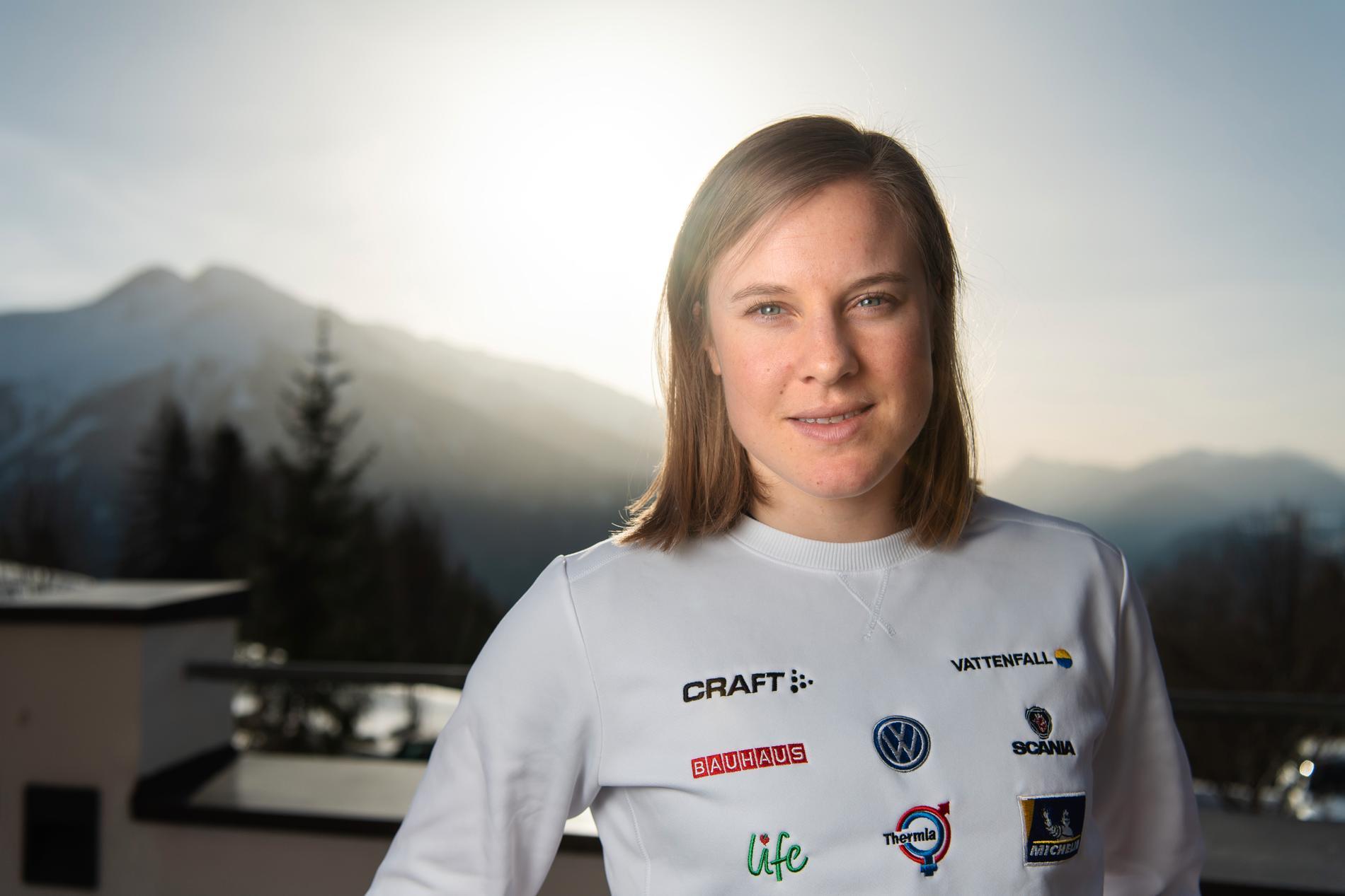 Hanna Falk har haft återkommande problem med ryggen.