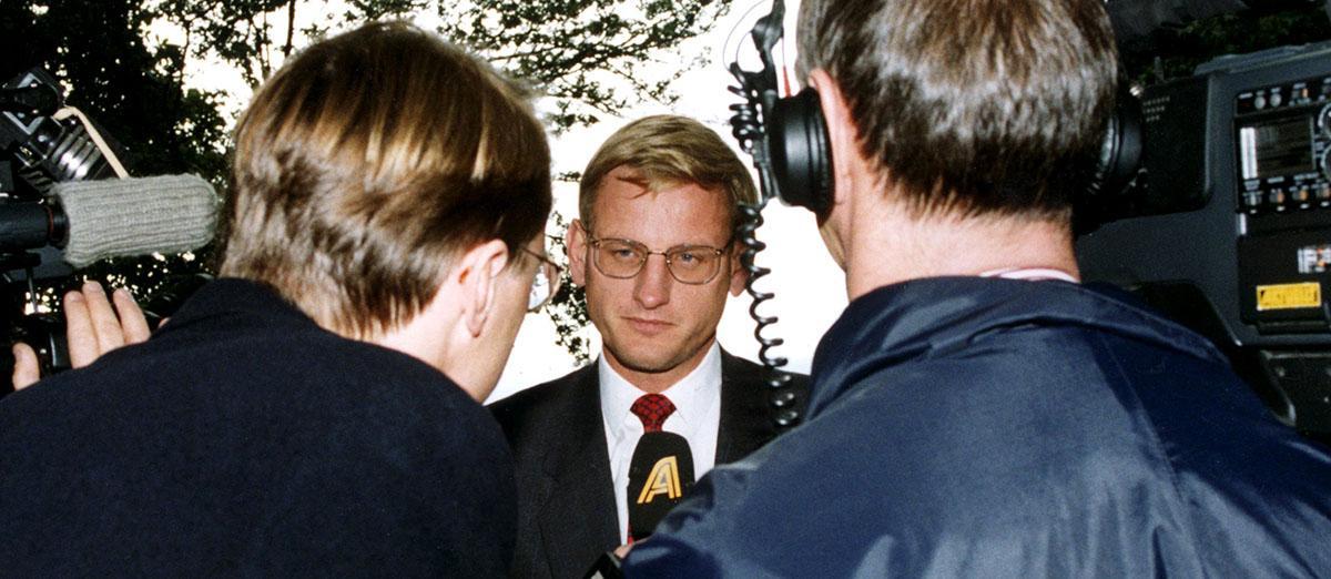 Carl Bildt (M), när det begav sig