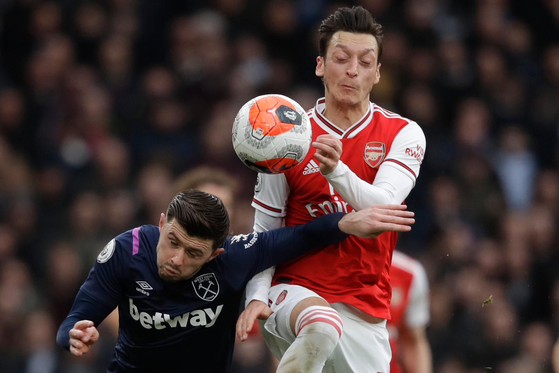 Özils sista match för Arsenal var mot West Ham den 7 mars förra (!) året.