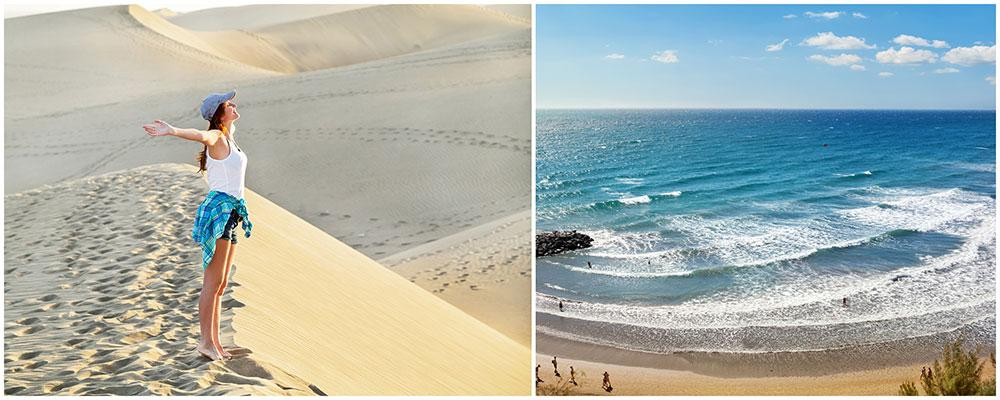 Sanddynderna på Gran Canaria hotas av erosion.