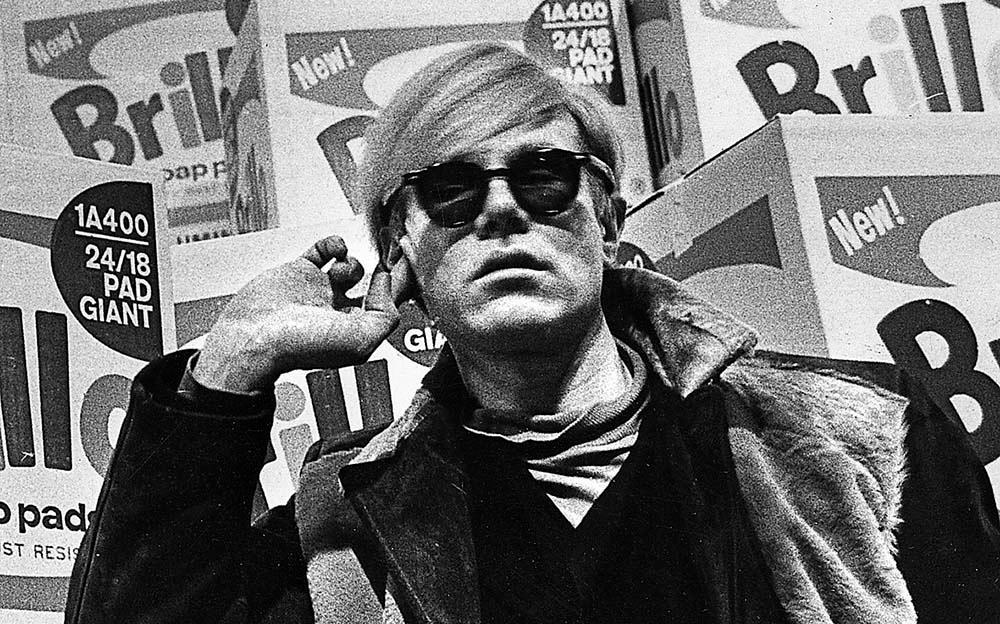 Andy Warhol på Moderna museet 1968.