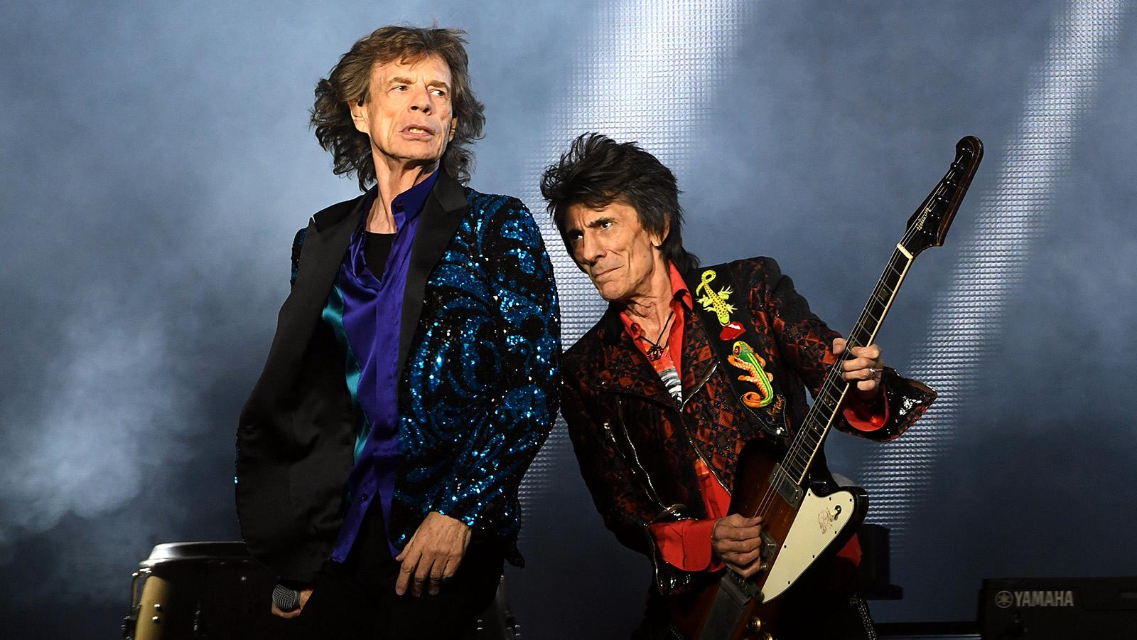 Mick Jagger och Ronnie Wood i The Rolling stones.