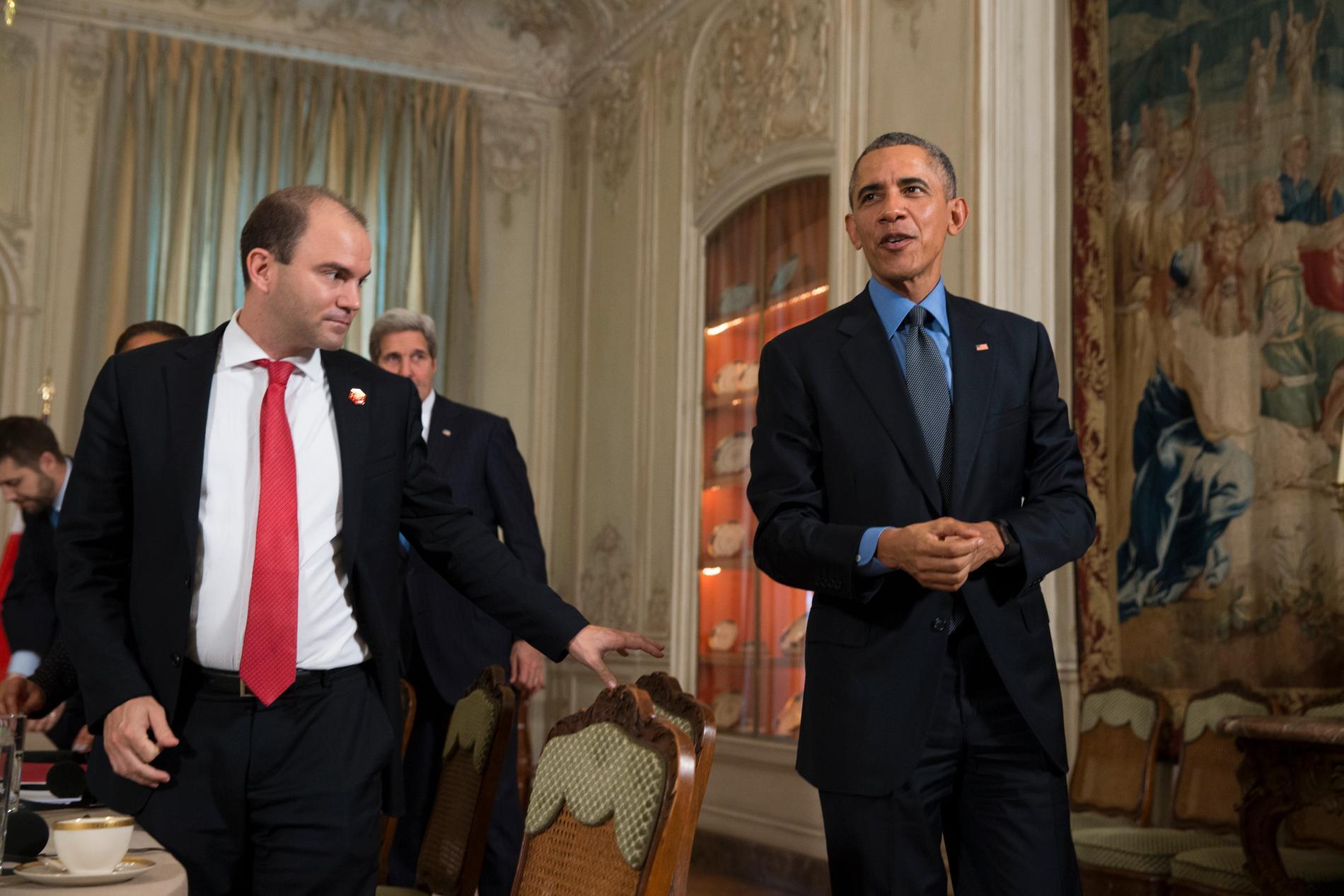 Ben Rhodes och Barack Obama