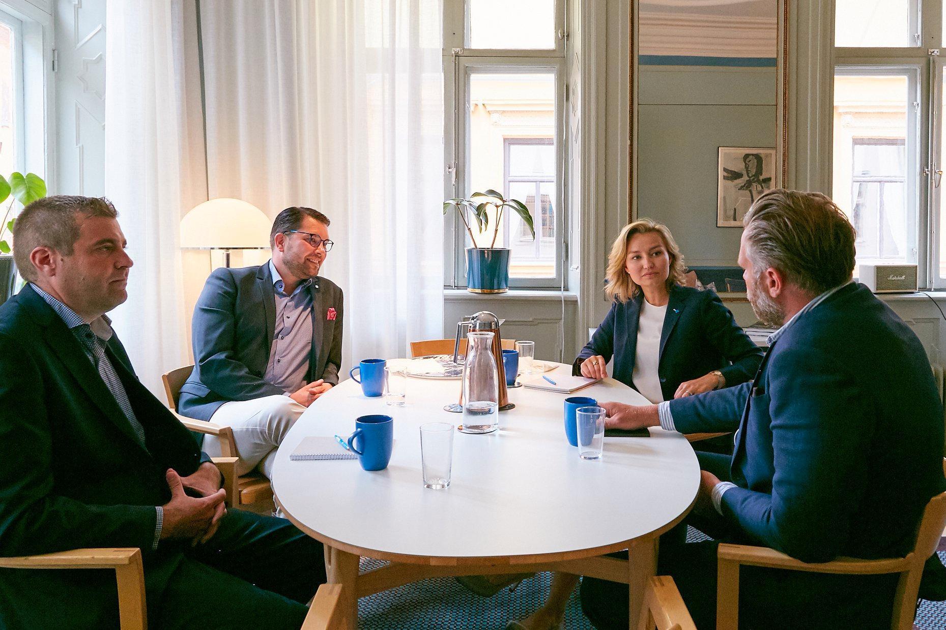 KD-ledaren Ebba Busch Thor och SD-kollegan Jimmie Åkesson åt lunch tillsammans och diskuterade sjukvård, energipolitik och migration.