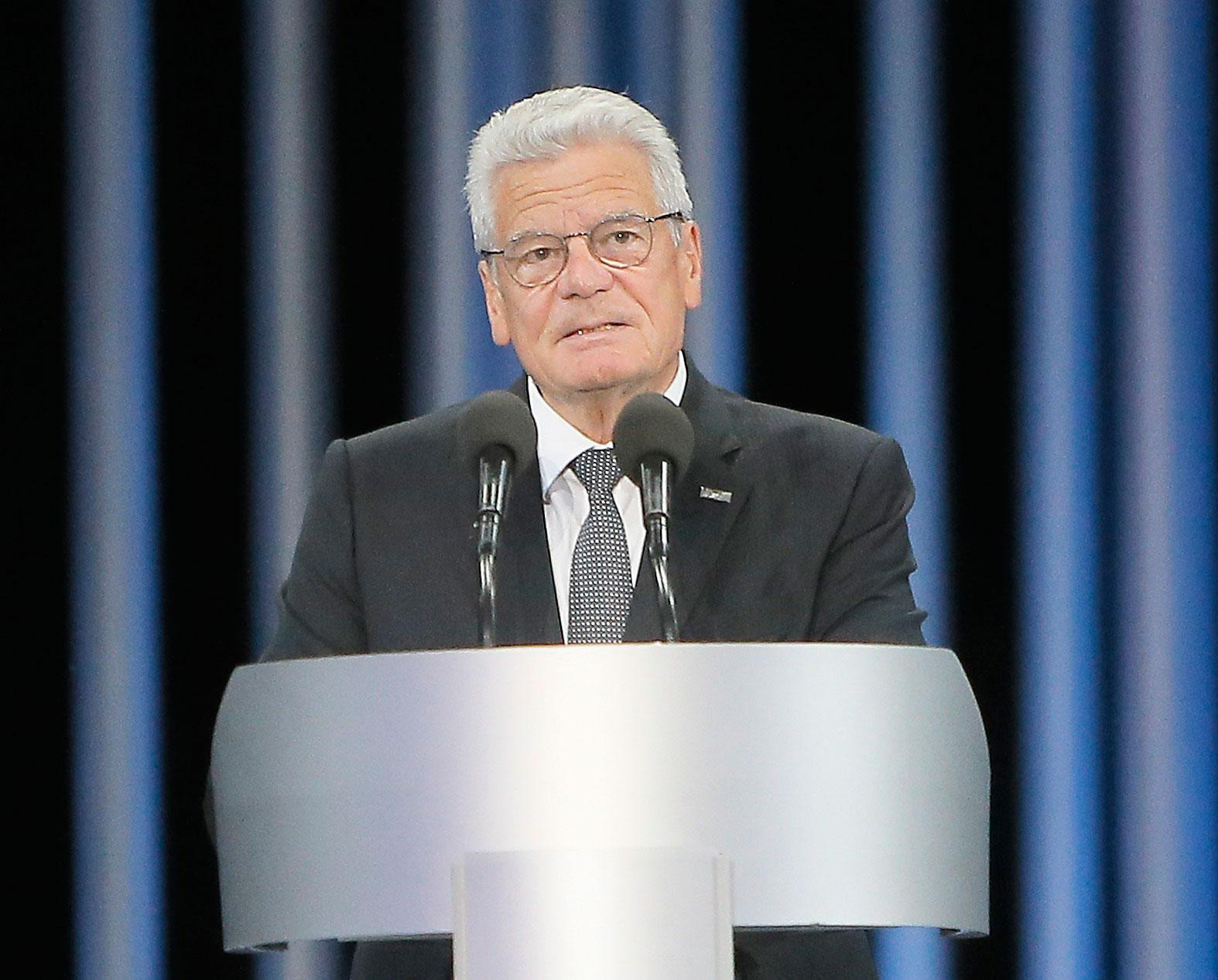 Joachim Gauck, Tysklands president.