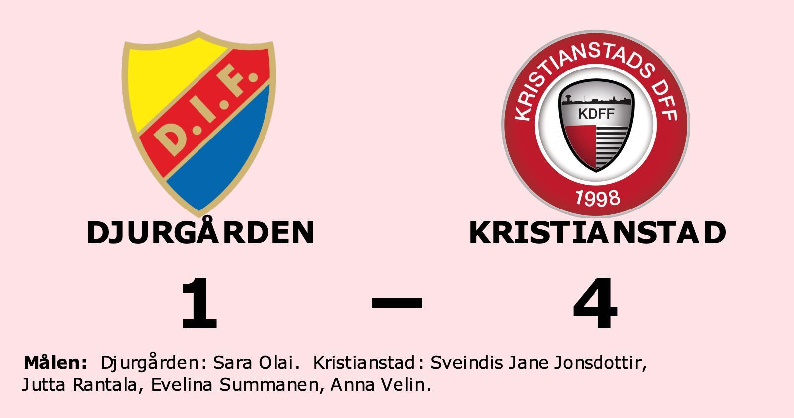 Sara Olai enda målskytt när Djurgården föll