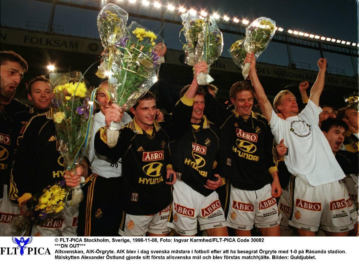 AIK tog SM-guld 1998.