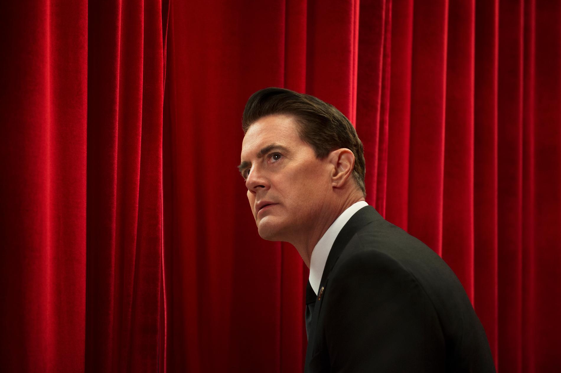 Agent Dale Cooper (Kyle MacLachlan i storform) som han ser ut när han agent Cooper, inte Mr C eller Dougie. Virtanen har sett de första fyra avsnitten och gillar vad han ser efter lyftet i slutet på tredje avsnittet.