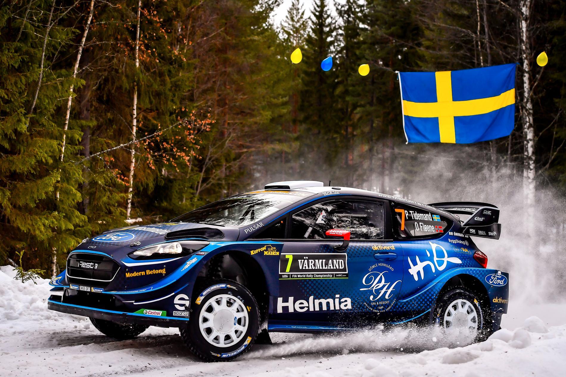 Pontus Tidemand har inlett Rally Sweden 2019 bra, men det är Thierry Nuville som leder efter SS1