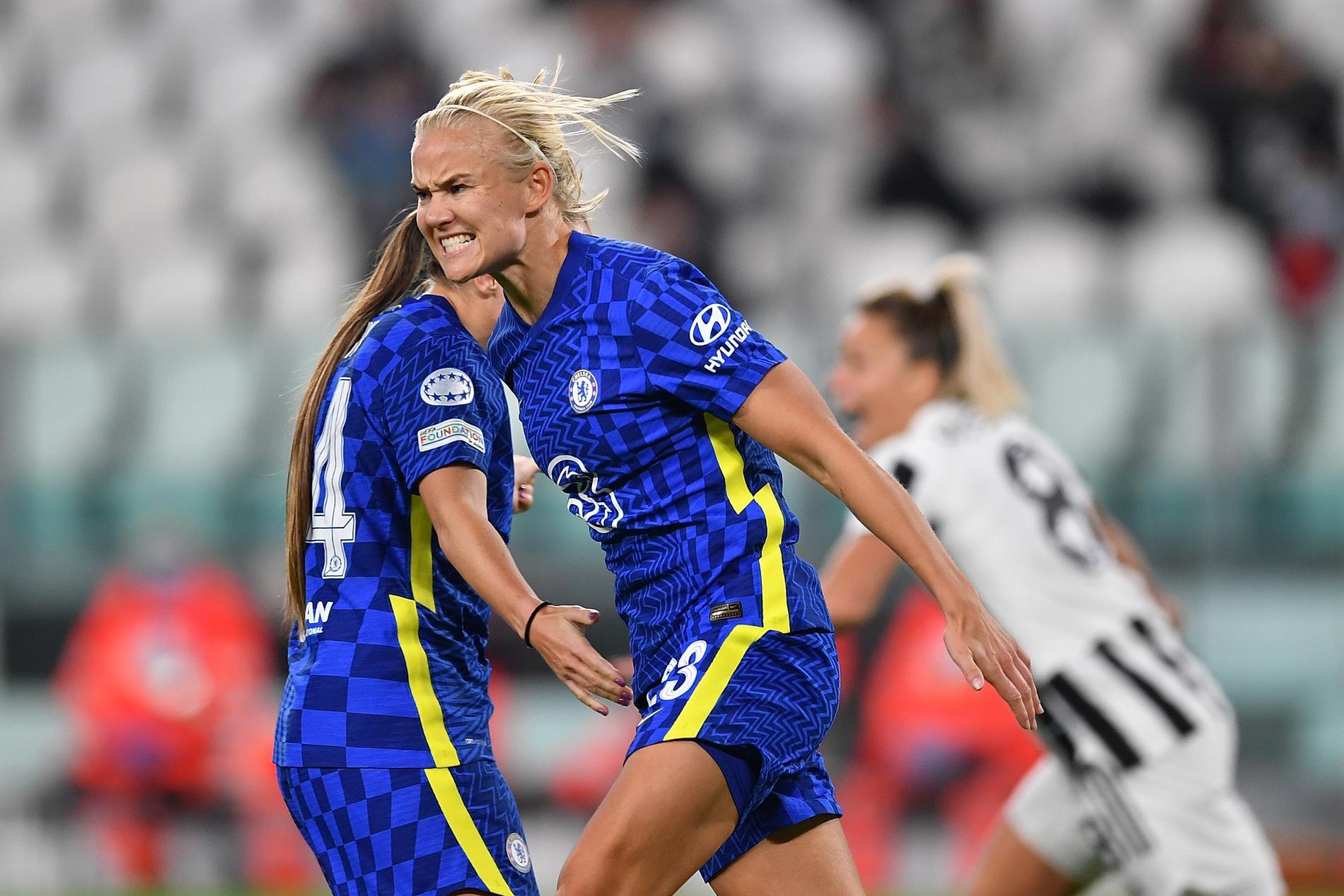 Pernille Harder avgjorde CL-mötet mot Juventus.