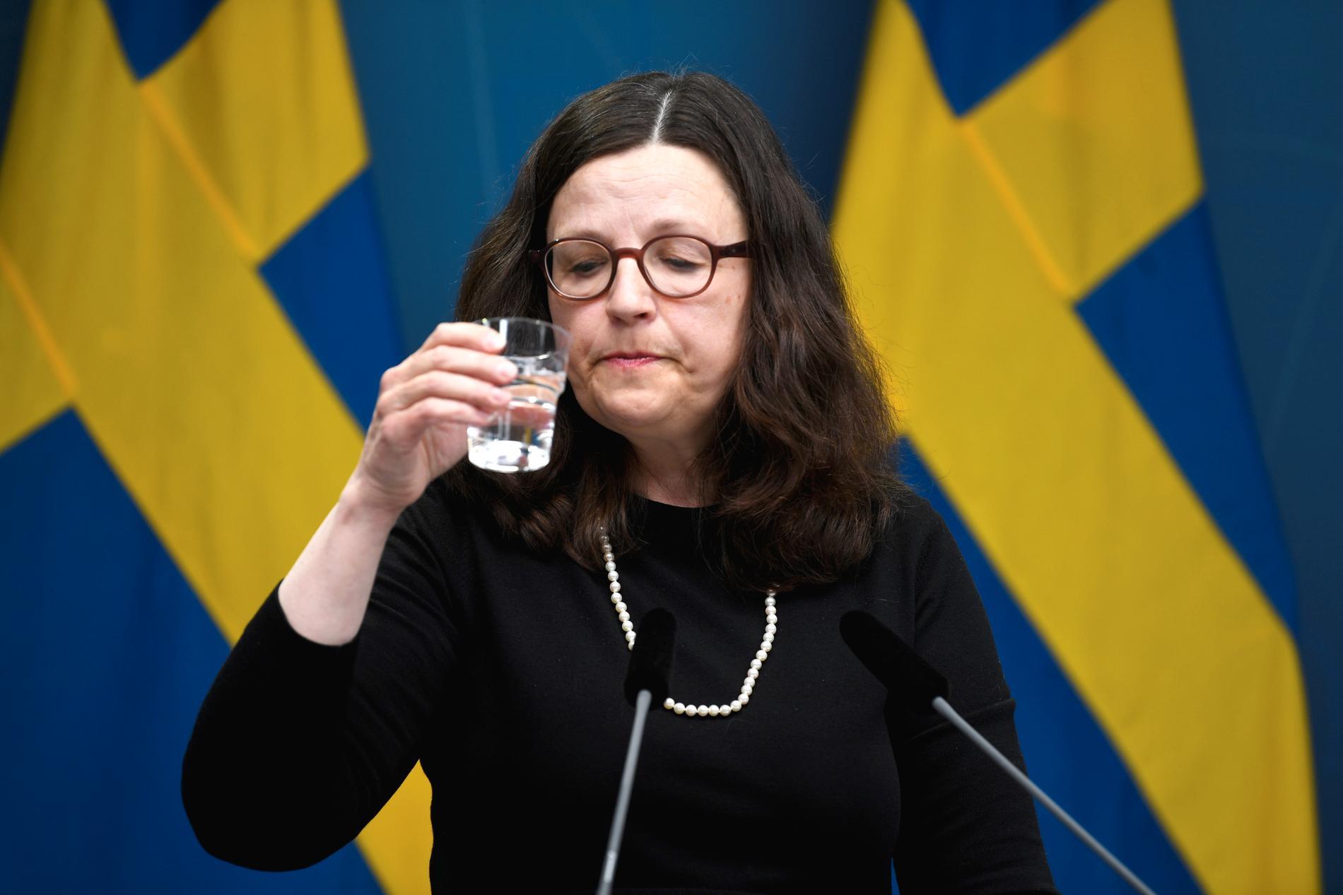 Anna Ekström bemötte på förmiddagen kritiken från Riksrevisionen.
