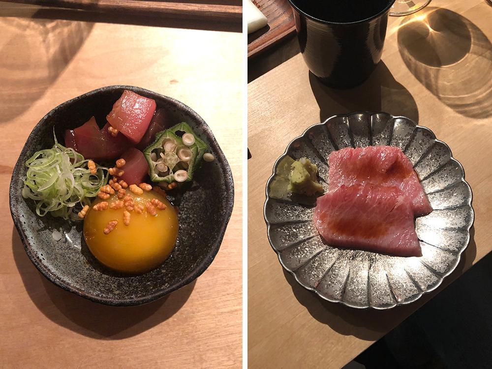 Smårätter och sushi står på Sushi Shos omakase-meny.