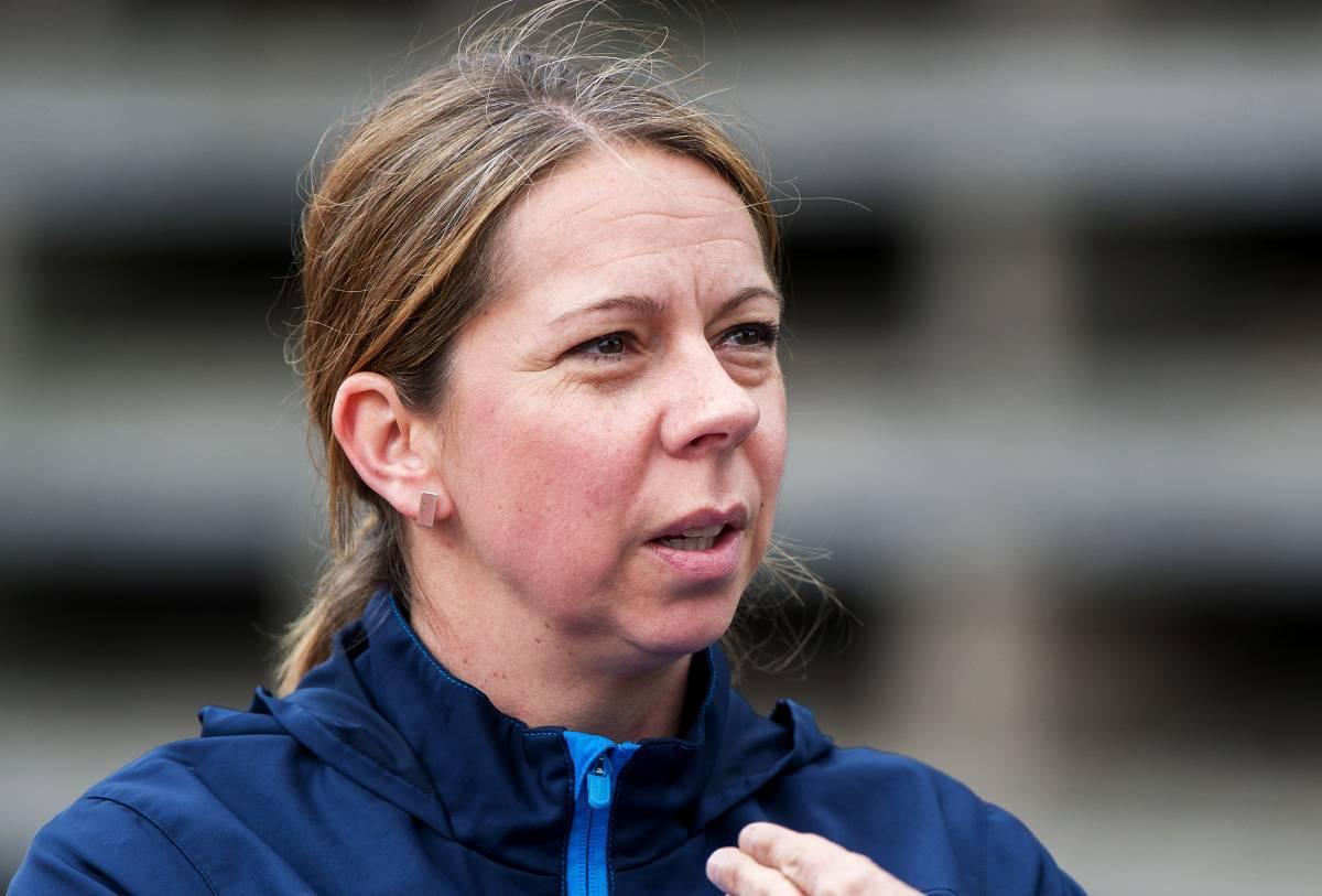 Helena Andersson, landslagets fysiolog.