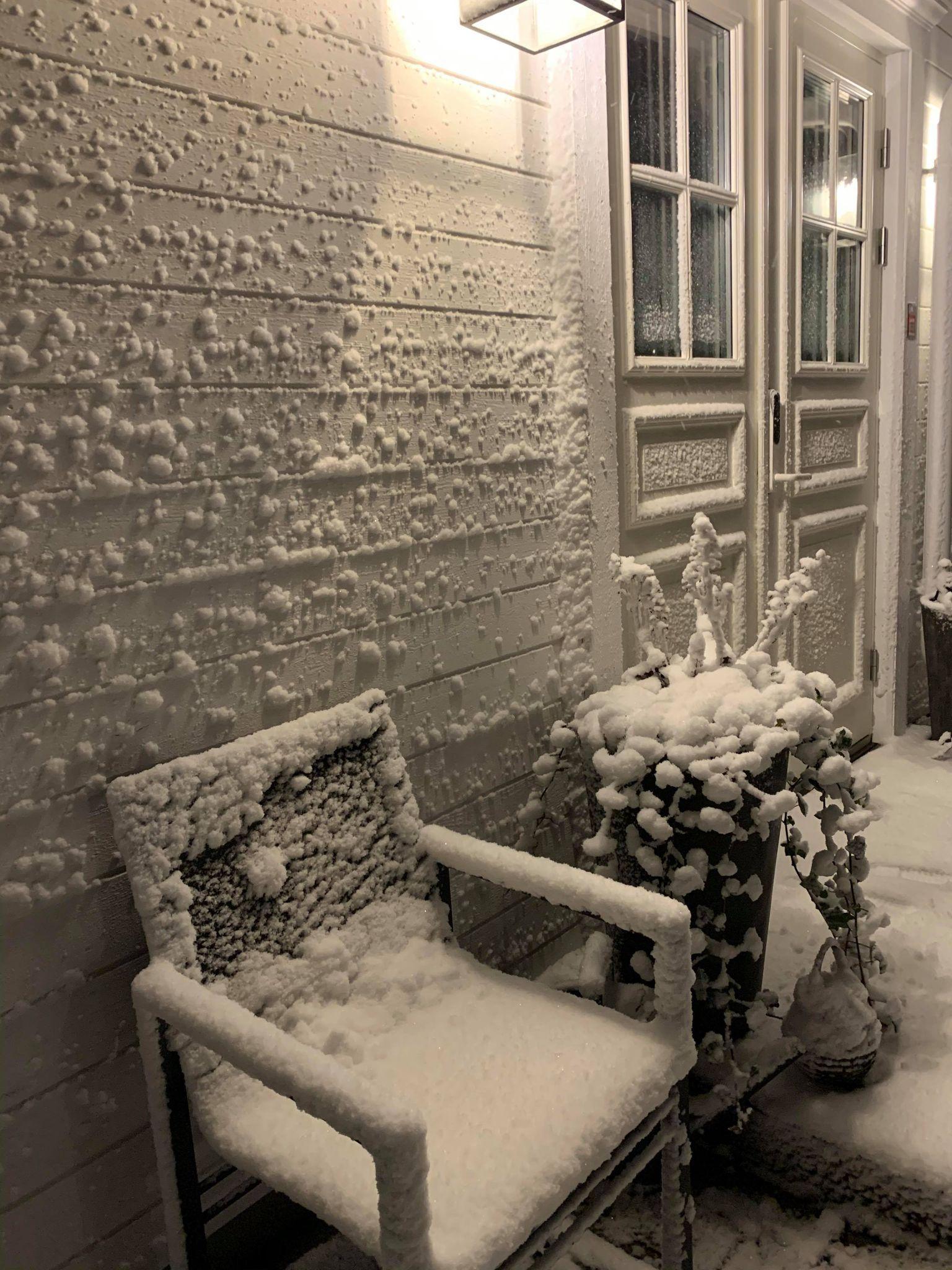 Snö i Skellefteå.