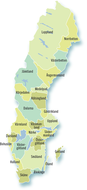 Sveriges 25 landskap