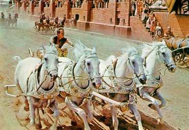 När kejsar Theodosius I förbjöd spelen i Olympia blomstrade hästtävlingarna i det romerska riket, vilket filmatiserades i Ben Hur.