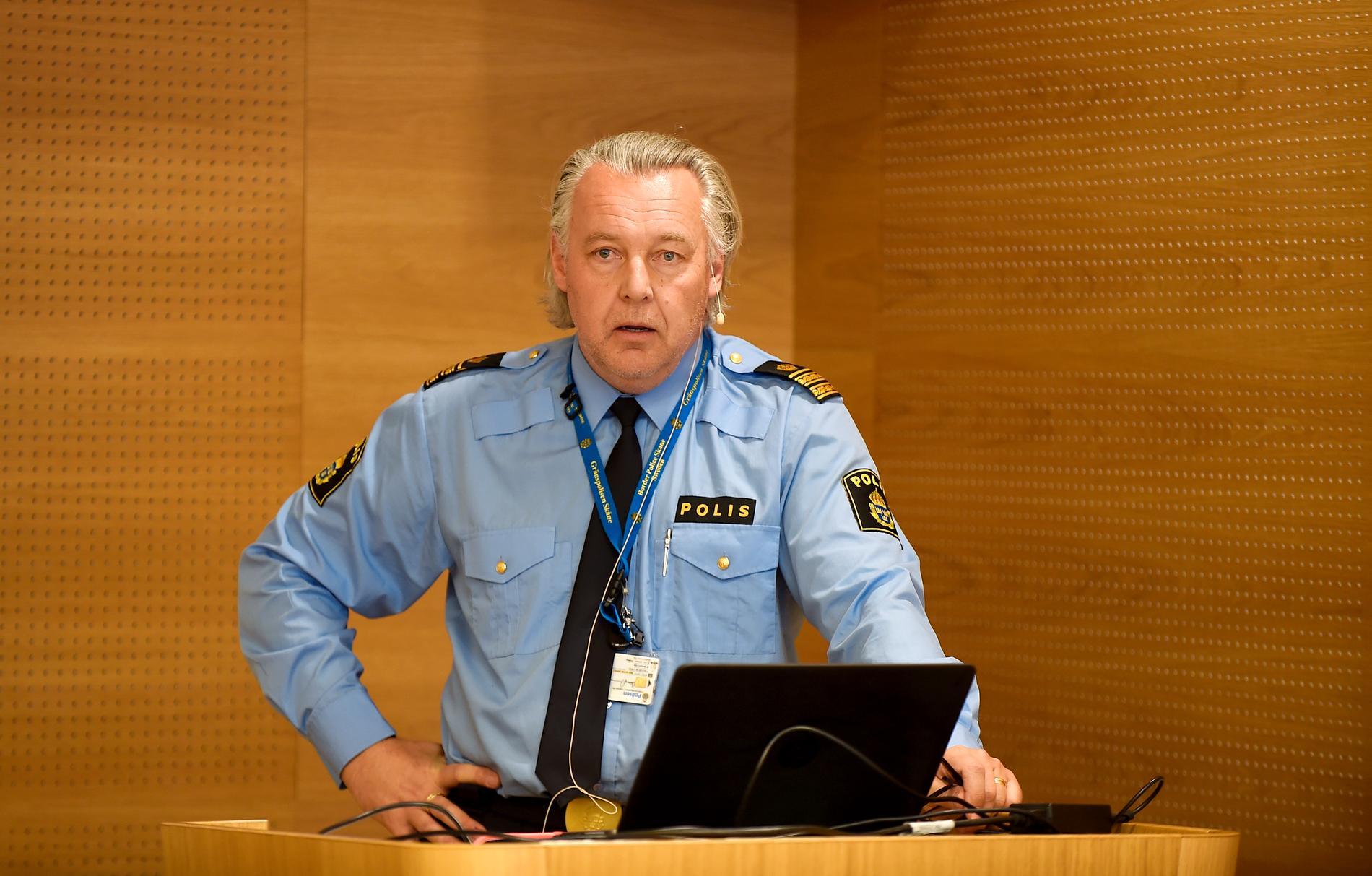 Thommy Brännström, chef för gränspolisen i region syd