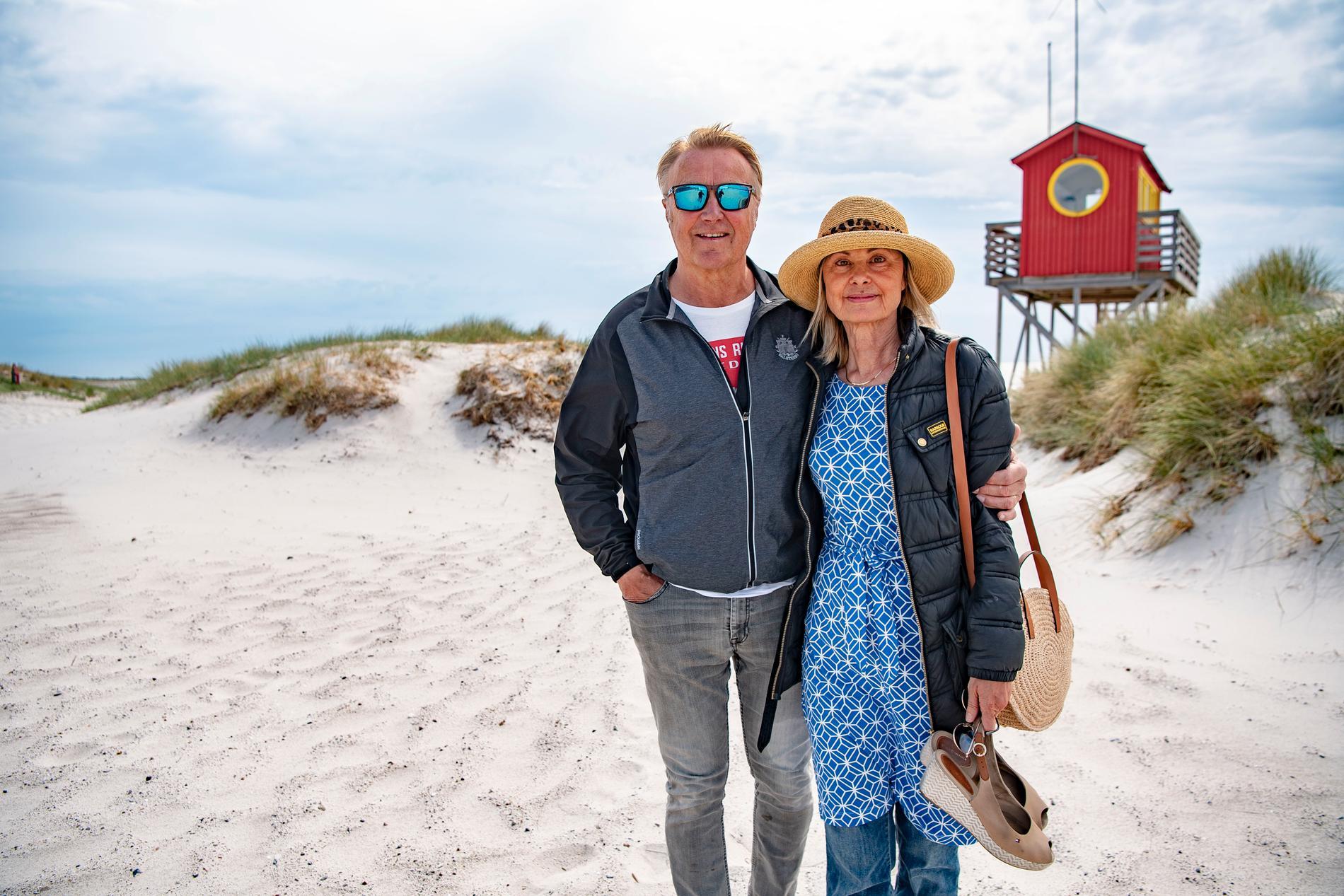 Vera Stevens och Magnus Åkerman har bott i Falsterbo i 16 år.