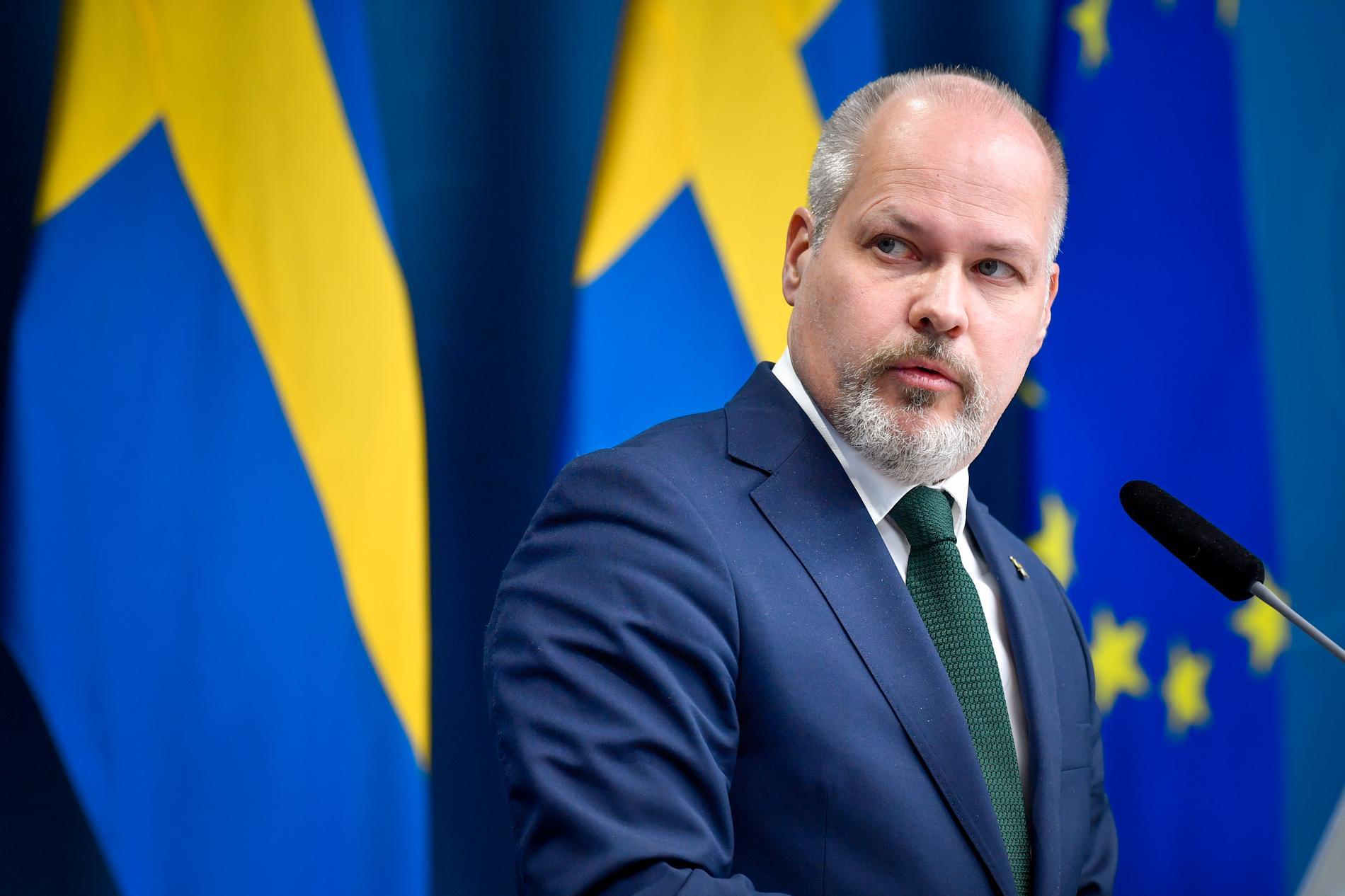 Morgan Johansson, justitieminister.