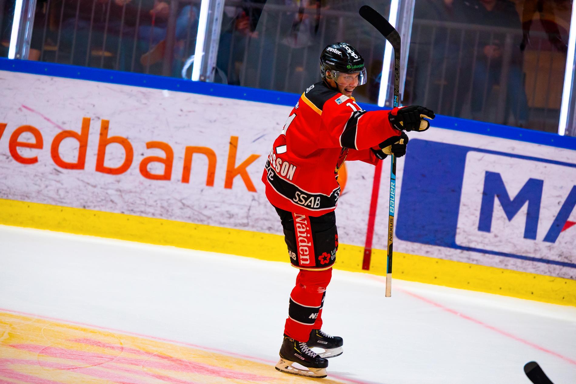Petter Emanuelsson satte två mål i 4–1-segern mot Färjestad. Arkivbild.