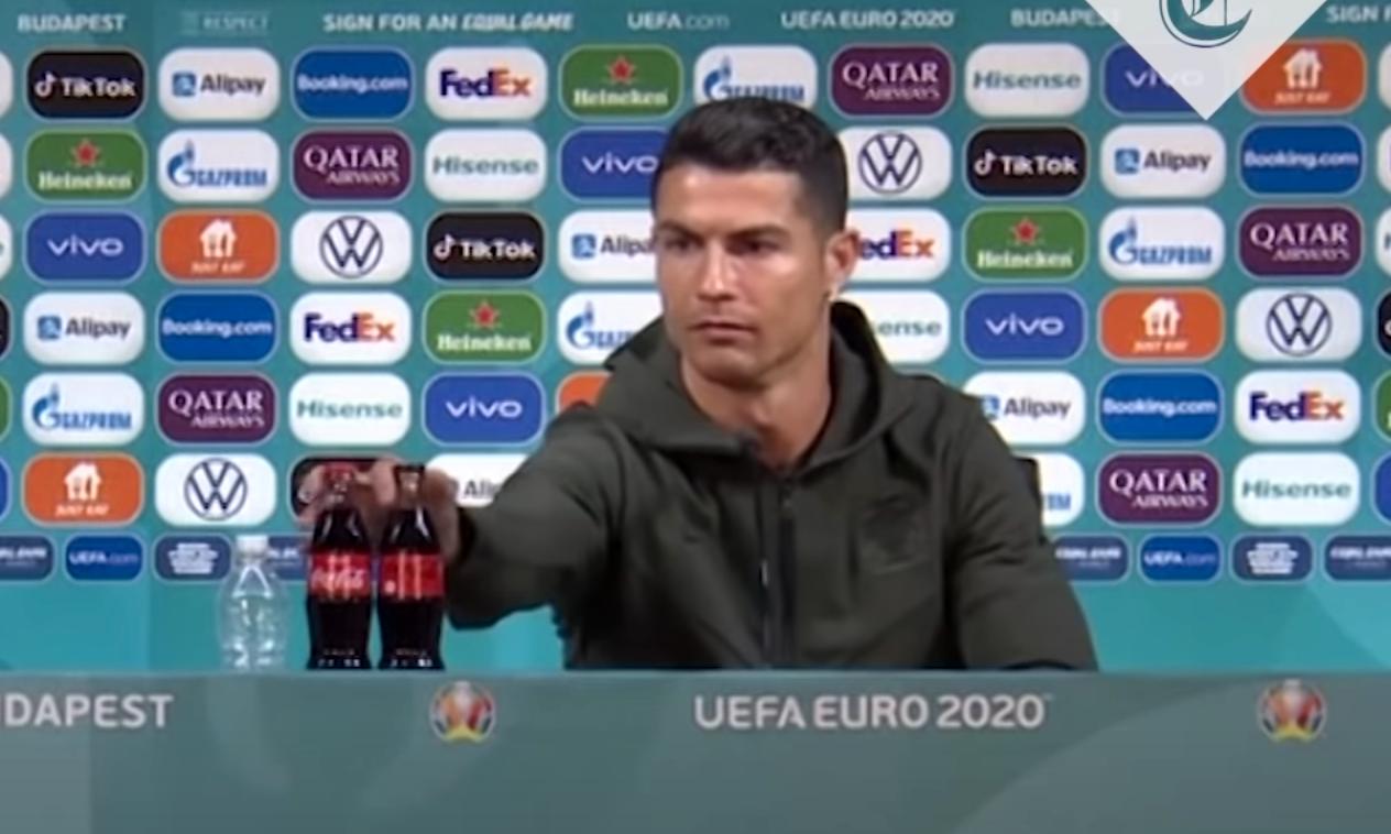 Cristiano Ronaldo dissade Coca-Cola på presskonferensen under fotbolls-EM.