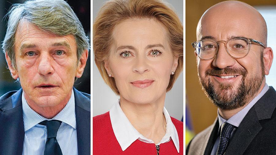 Vi måste inse att det Europa som kommer ut ur den här krisen inte kan och inte kommer att vara samma Europa som gick in i den, skriver EU-topparna David Sassoli, Ursula von der Leyen och Charles Michel.