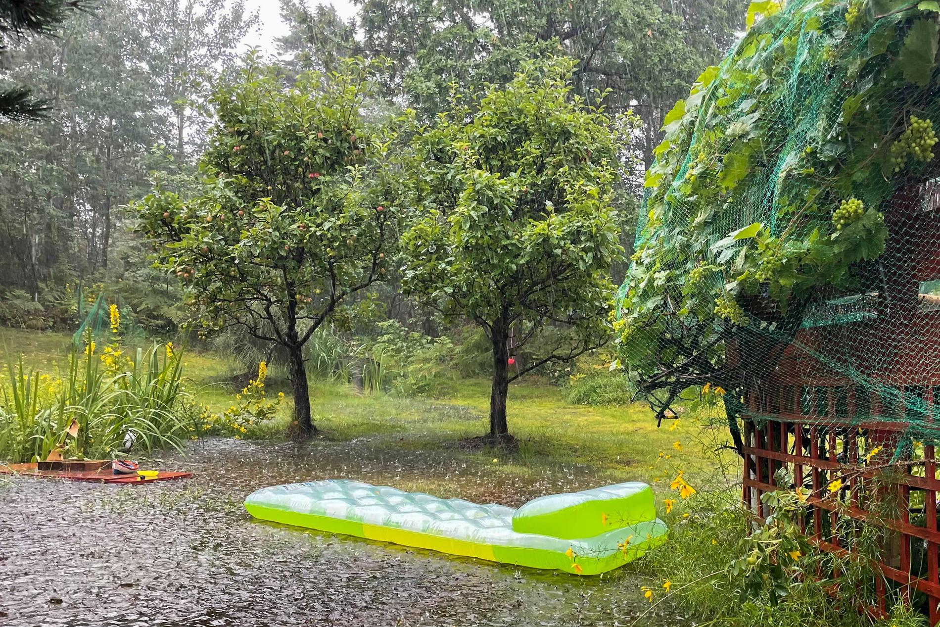 Delar av Norge har fått stora regnmängder under torsdagen.