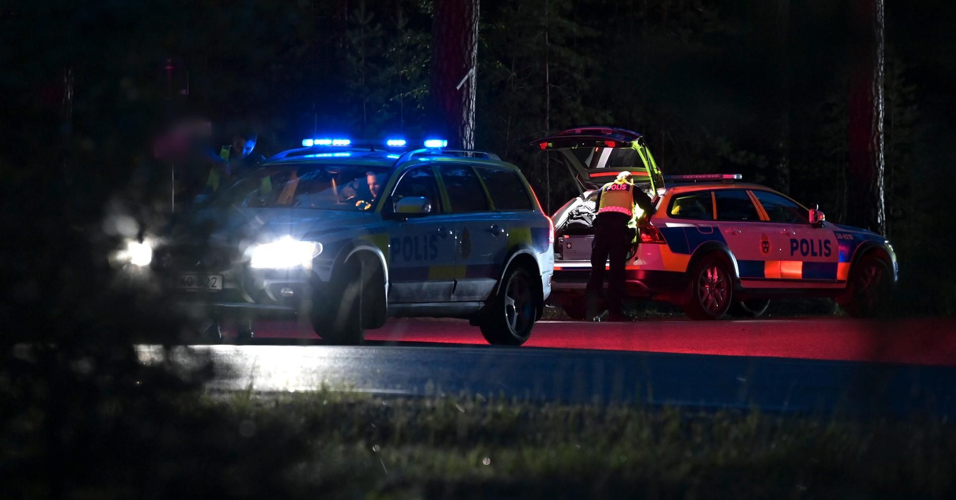 Räddningstjänst på plats utanför Södertälje.