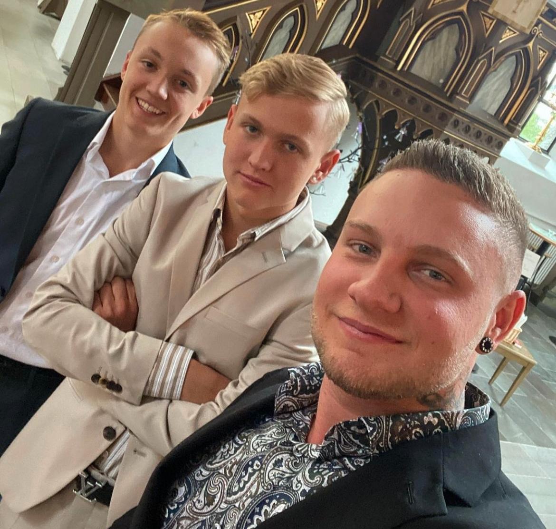 Erik, Razmus och Tim Malmberg.