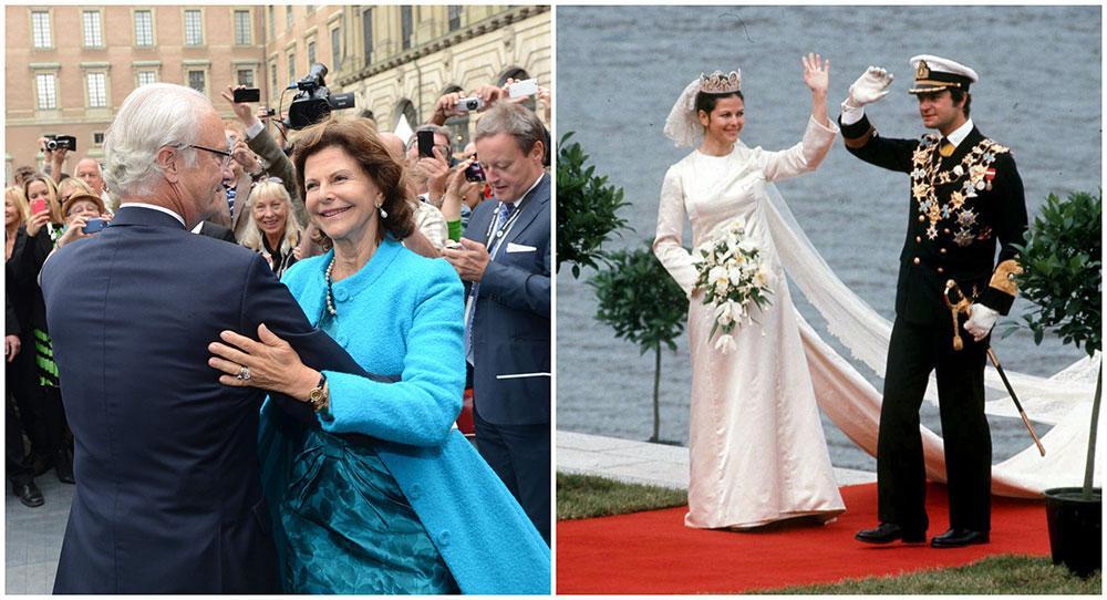 I sommar har kungen och drottningen varit gifta i 44 år. De gifte sig i Storkyrkan i Stockholm den 19 juni 1976.