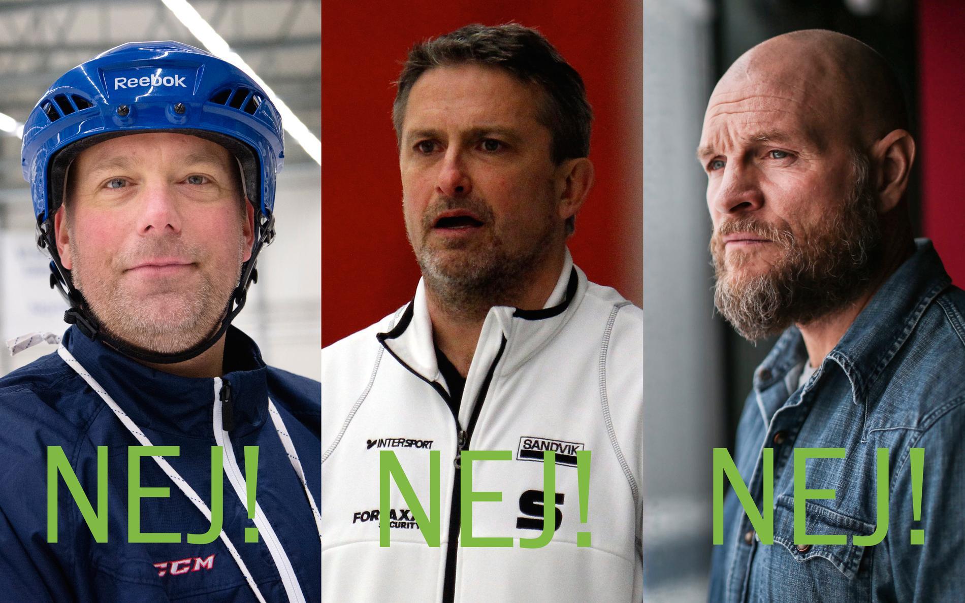 Svenne Olsson, Anders Jakobsson och Per Fosshaug har tackat nej till Hammarby.