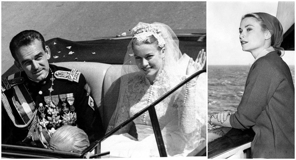 Grace Kelly och furst Rainier gifte sig i Monaco 1956. De åkte i kortege i en Rolls Royce genom staden efter vigseln.