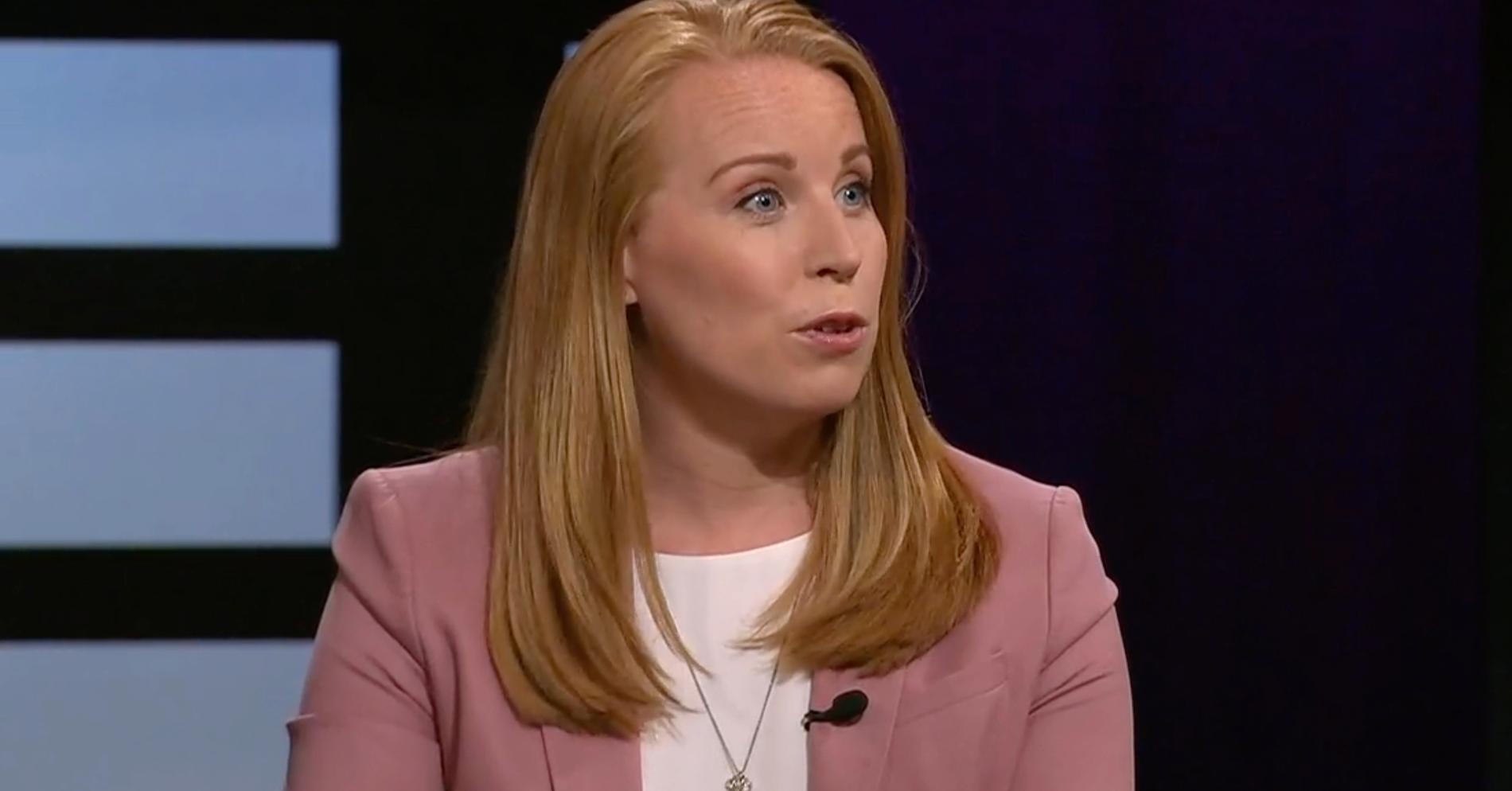 Annie Lööf i SVT:s Agenda.