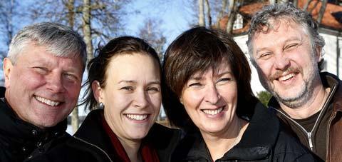 Rödgrönt Lars Ohly (V), Maria Wetterstrand (MP), Mona Sahlin (S) och Peter Eriksson (MP) hoppas få regera ihop efter nästa års riksdagsval.