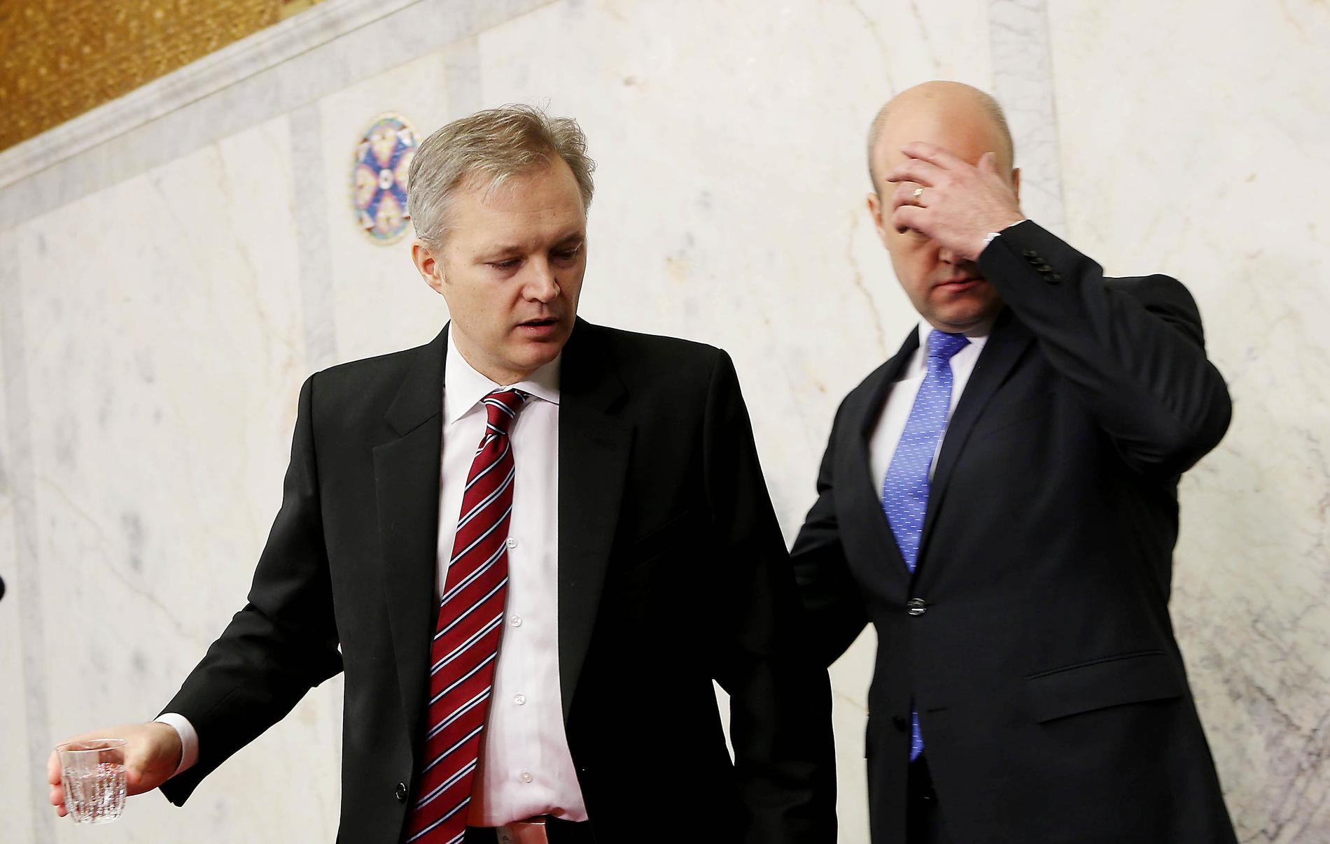 Försvarsminister Sten Tolgfors (M) avgick i mars 2012 efter skandalen med vapenfabriken i Saudiarabien