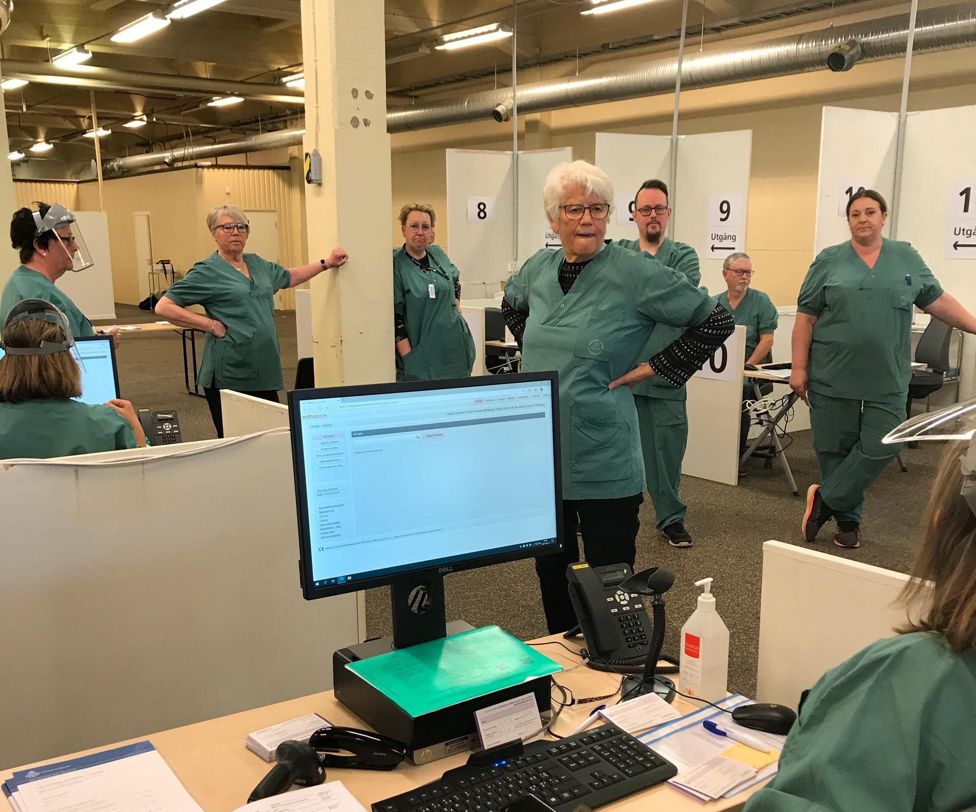 Agneta Colliander pausar pensionärslivet och leder vaccineringen.