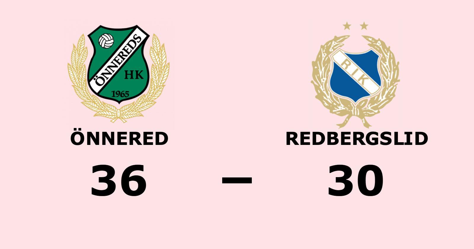 Önnered vann mot Redbergslid på hemmaplan