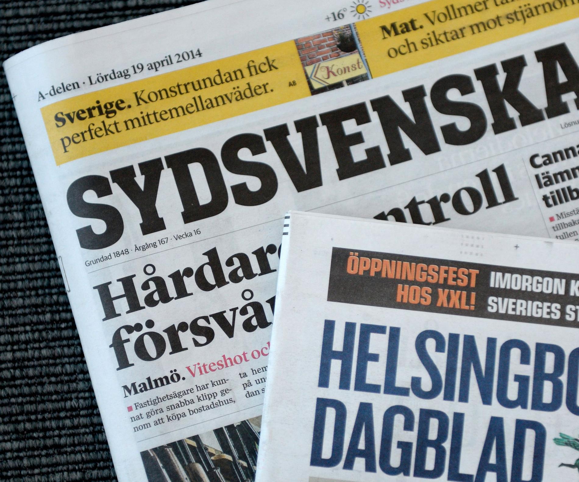 Skämtet publicerades både på Sydsvenskan och Helsingborgs Dagblad.