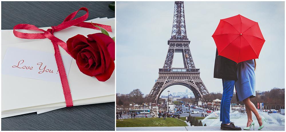 Fira kärleken i Paris, eller i romatiska Saint-Valentine.