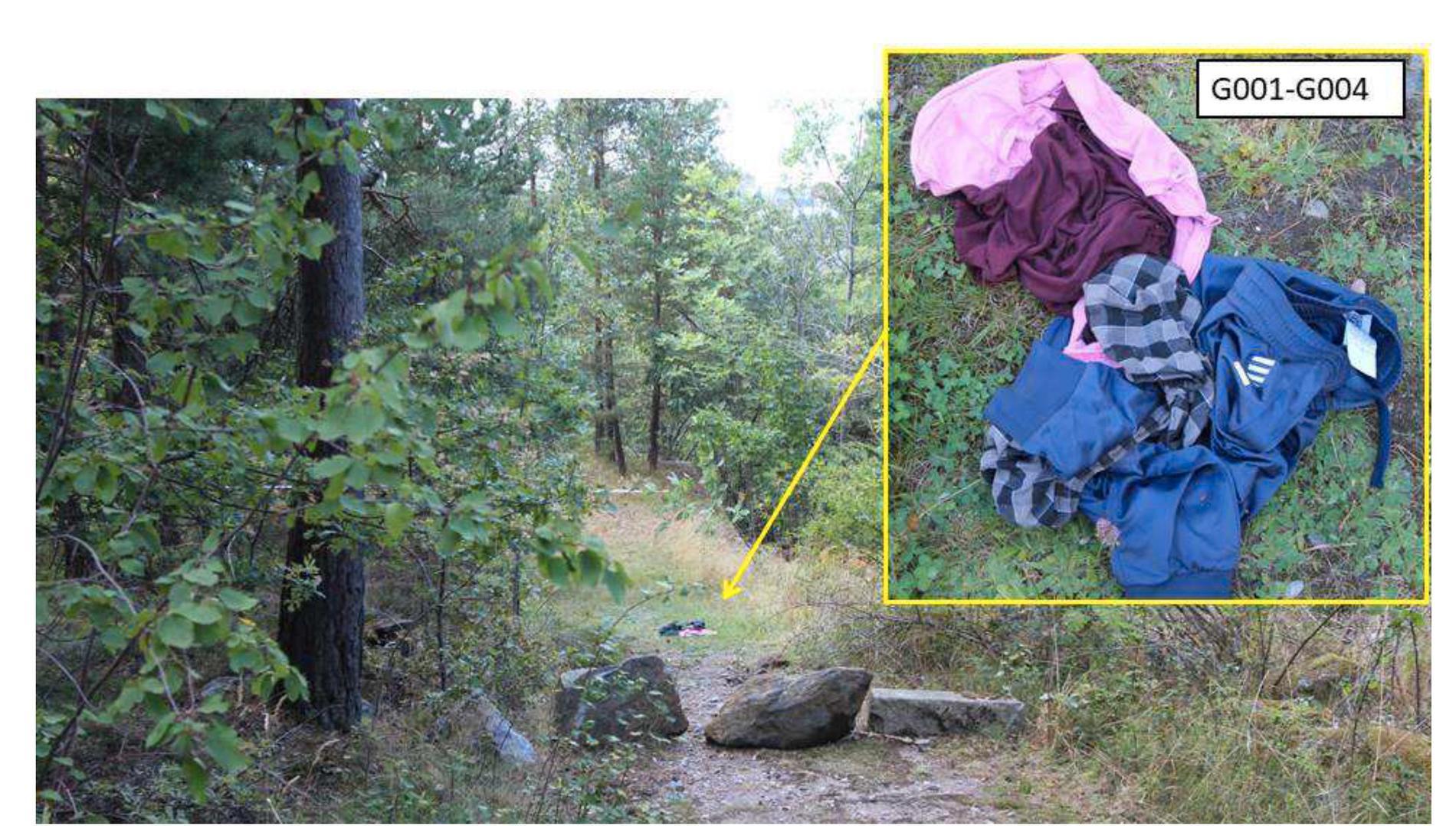 Här hittades fler av pojkarnas klädesplagg.