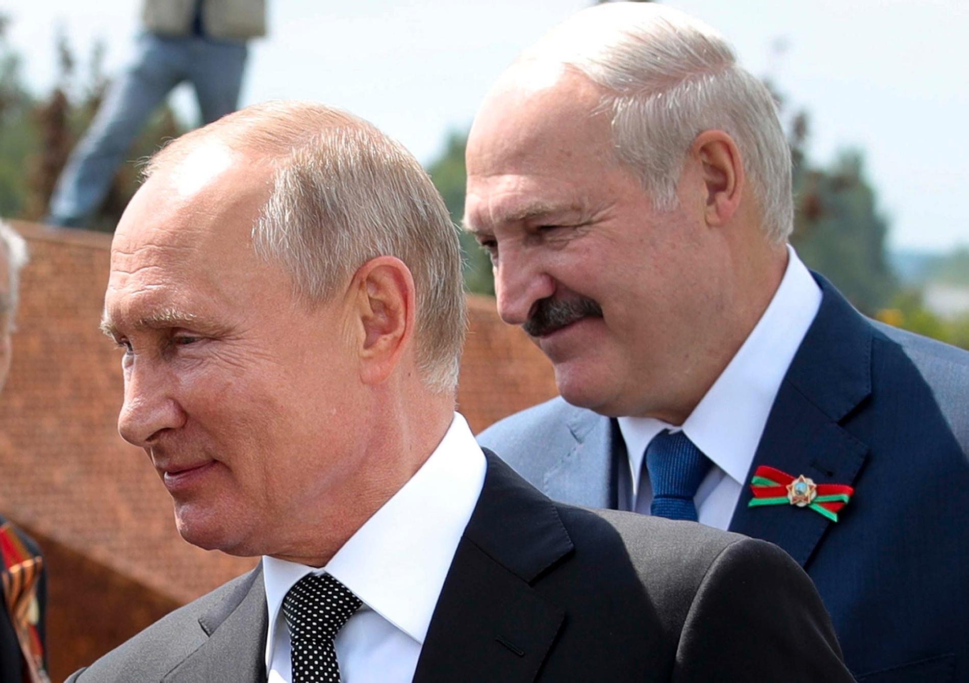Vladimir Putin och Aleksandr Lukasjenko