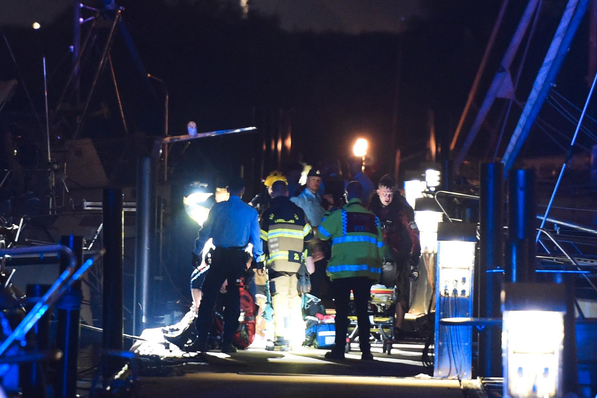 Utryckning vid ett drunkningstillbud i Landskrona.