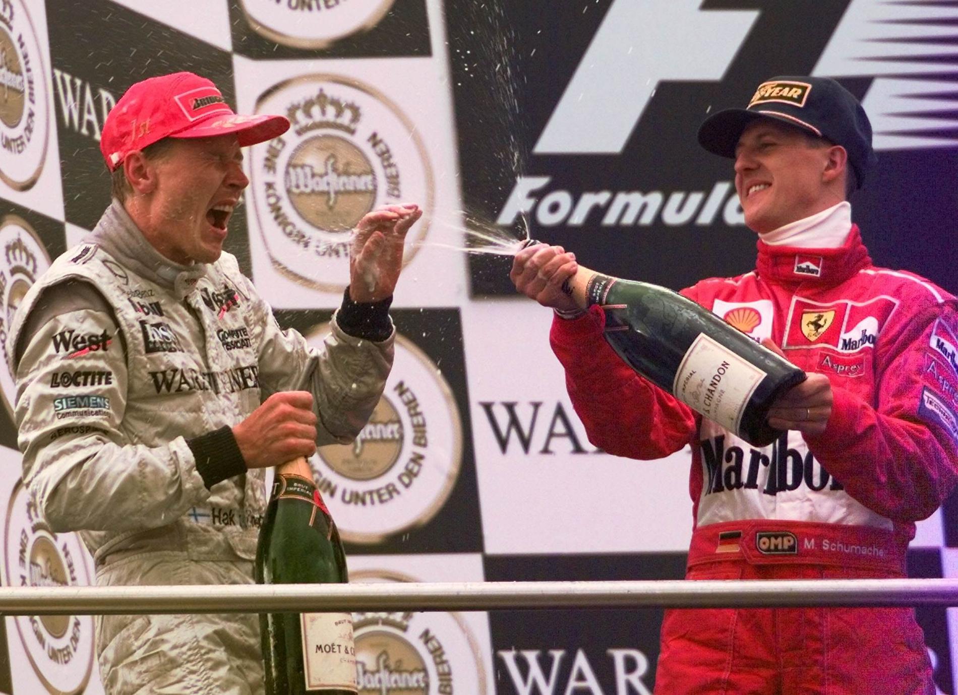 Mika Häkkinen och Michael Schumacher.