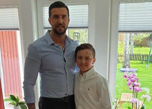 Pappa Amel Besic och sonen Liam Besic.