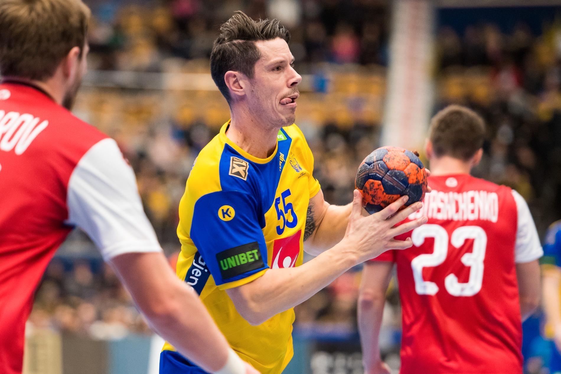 Kim Andersson, träningslandskamp mot Ryssland 2019.