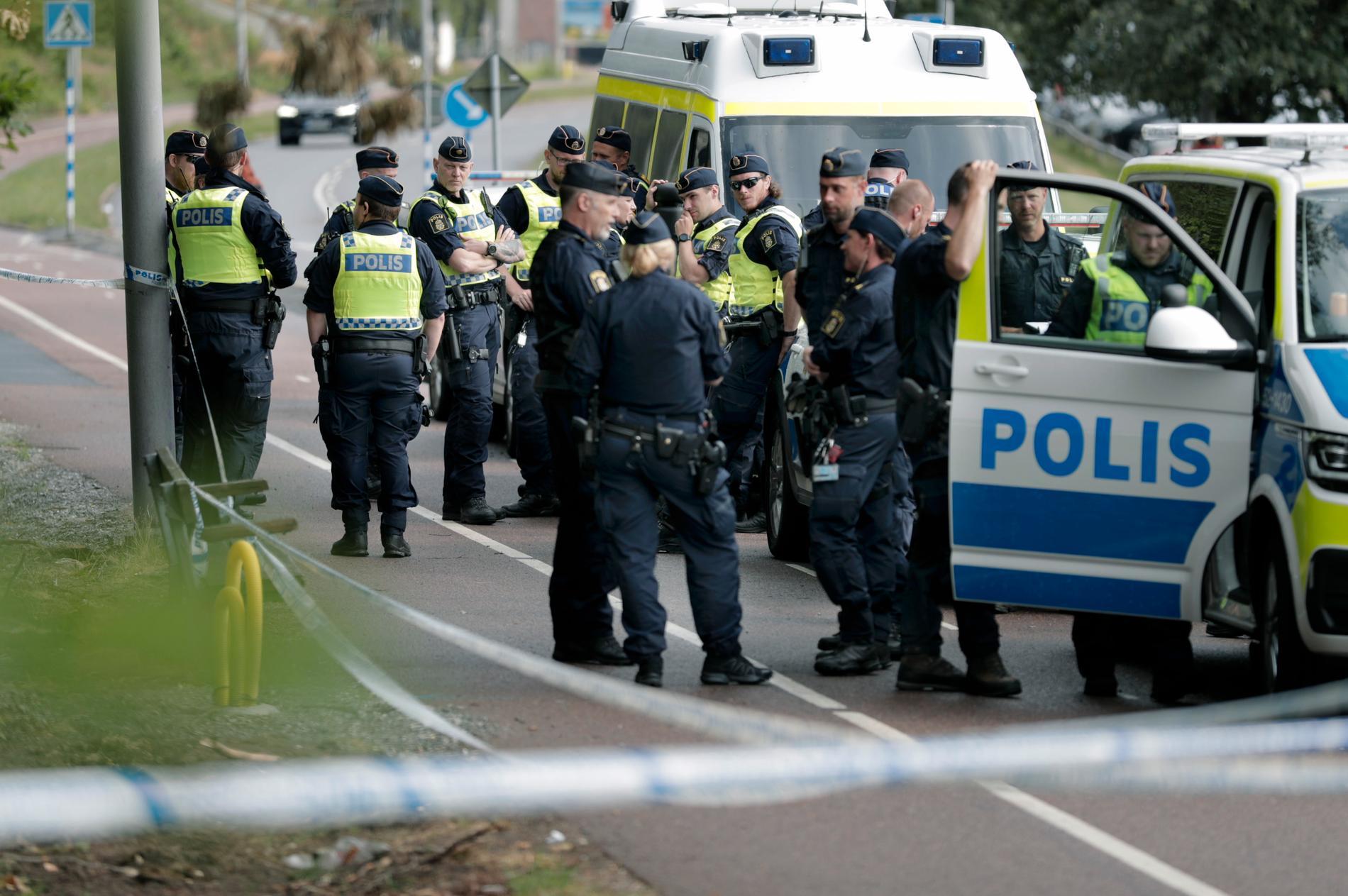 Polispådrag vid Biskopsgården.
