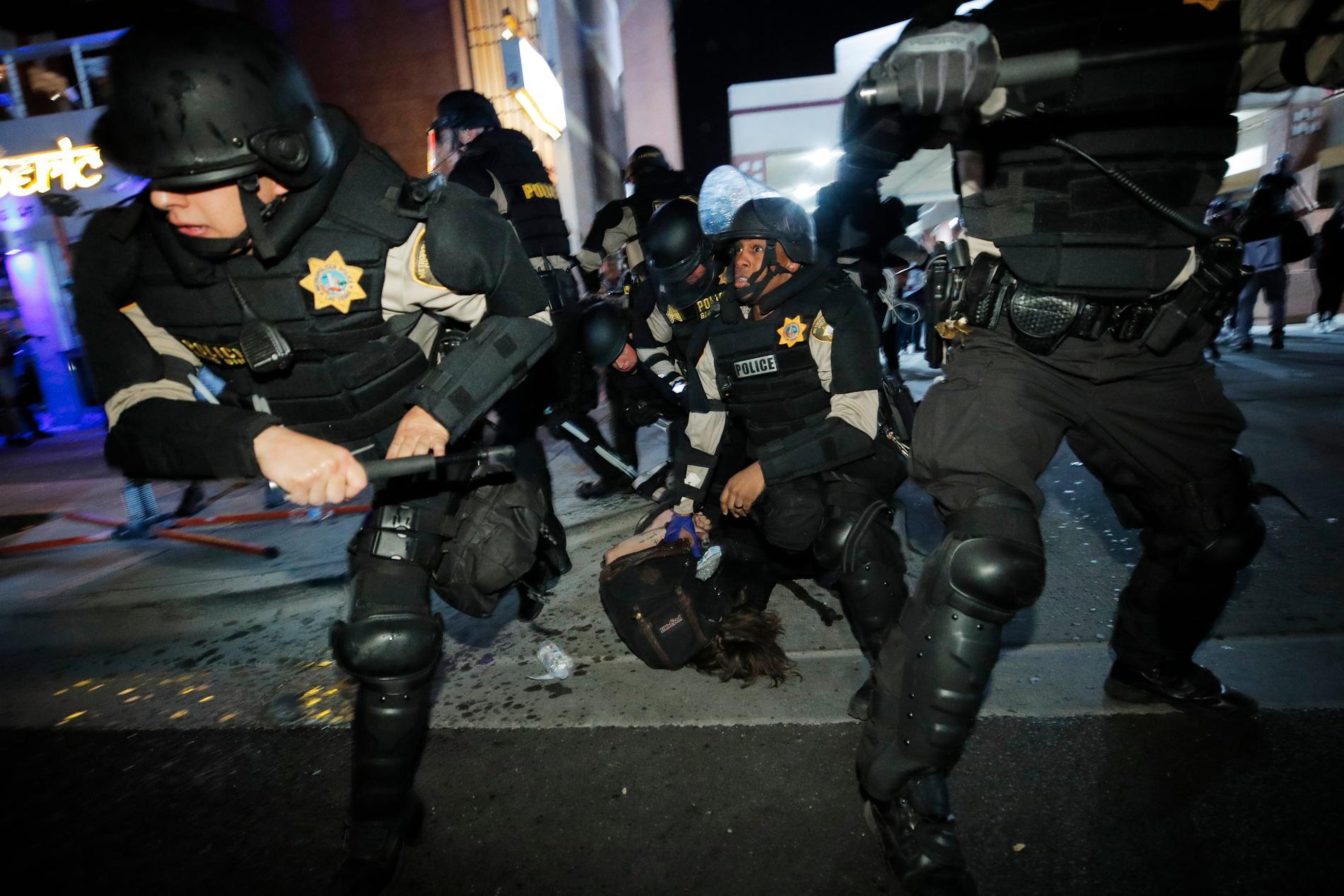 Protester i Las Vegas.